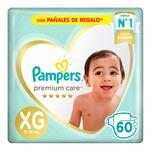 "Pañales  PAMPERS Premium Care   ""XG"" 60 Unidades"