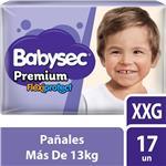 "Pañales  BABYSEC Premium   ""XXG"" 17 Unidades"