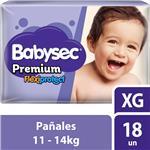 "Pañales  Babysec Premium  ""Xg"" 18 Unidades"