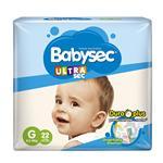 "Pañales  Babysec Ultra Sec  ""G"" 22 Unidades"