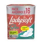 Toallas Femeninas Slim C/Alas Ladysoft Paq 16 Uni