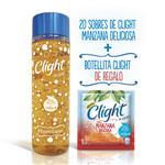 Combo Clight Manzana Deliciosa X 20 Uni + Botella 1/2 Litro