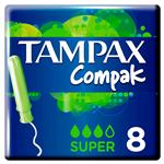 Tampones Super TAMPAX Cja 8 Uni